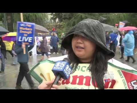 CBS SF Bay Area   KPIX 5   UC workers protest at UC Berkeley