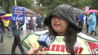 CBS SF Bay Area | KPIX 5 | UC workers protest at UC Berkeley