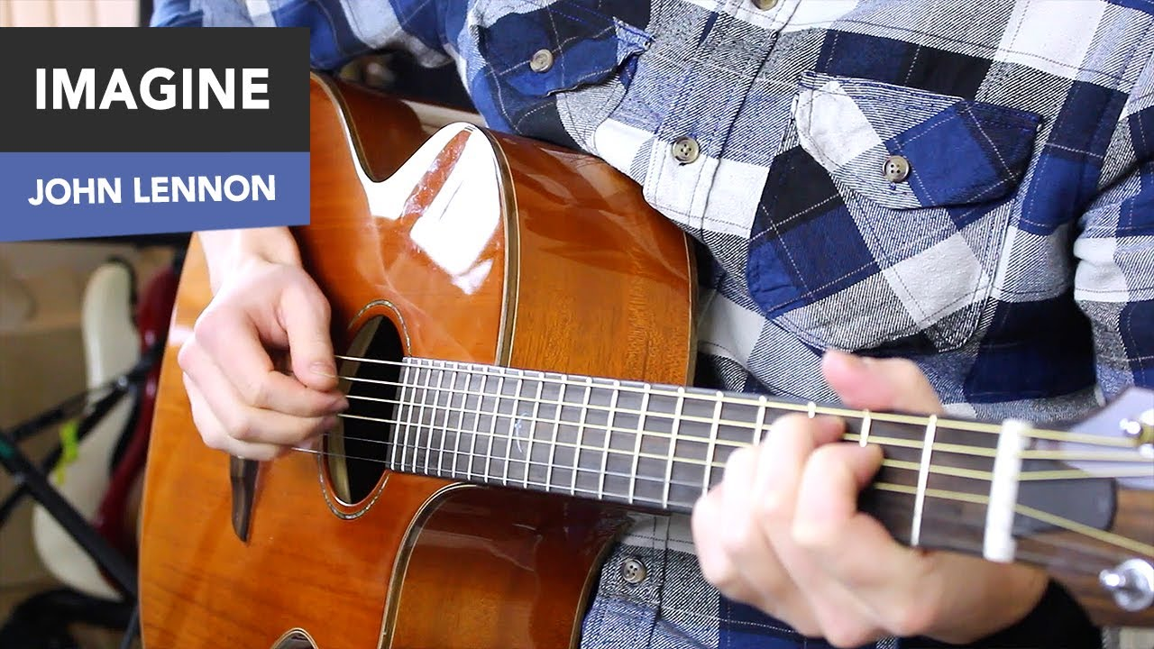 how to play imagine on guitar fingerstyle