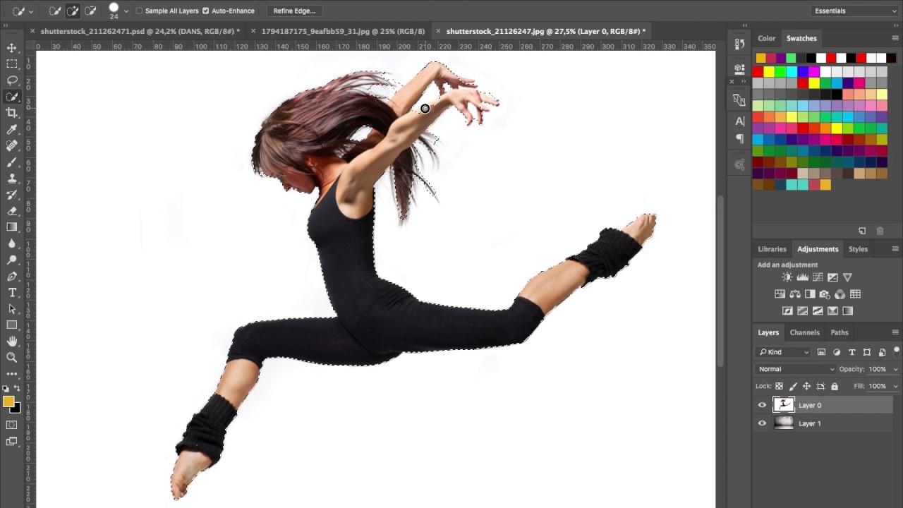 klippa ut bilder i photoshop