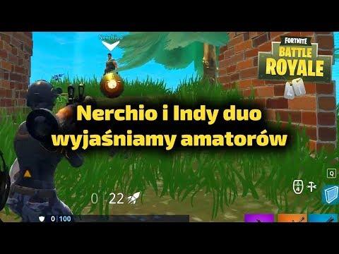 Nerchio i Indy kontra amatorzy - Fortnite Gra Battle Royale Gameplay