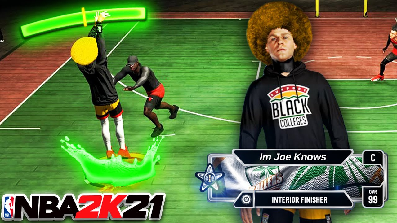 7'2 INTERIOR FINISHER can GREEN from HALFCOURT in NBA 2K21 CURRENT GEN...