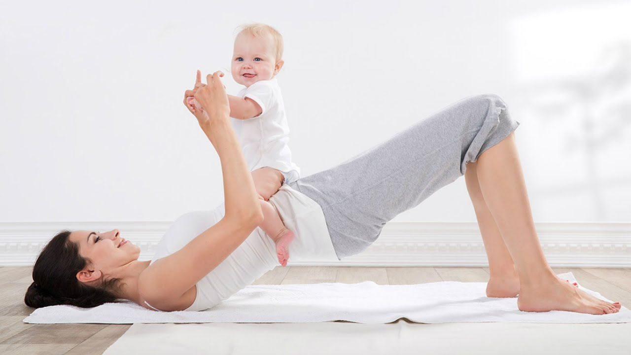 Mama Baby Yoga - Komplettes Workout - YouTube