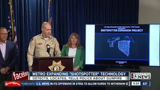 'Shotspotter' technology expands in Las Vegas valley to fight gun crime