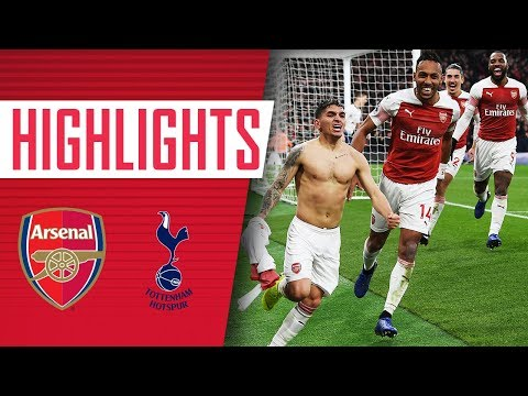 Arsenal 4 - 2 Tottenham | Goals, highlights, fans & celebrations