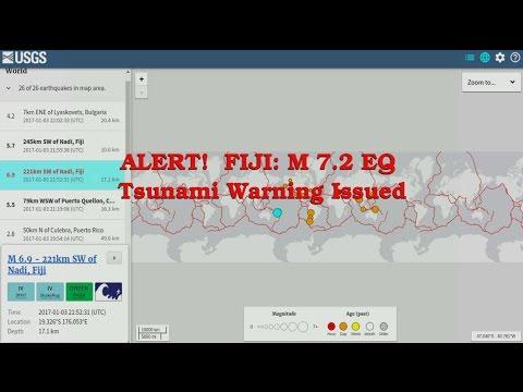 ALERT! FIJI 7.2 EQ Tsunami Warning Issued