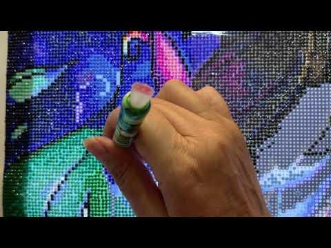 WIP & Chat #20 (Diamond Art Club- Blue Zion) 08-21--2019
