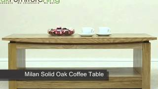 Milan Solid Oak Coffee Table