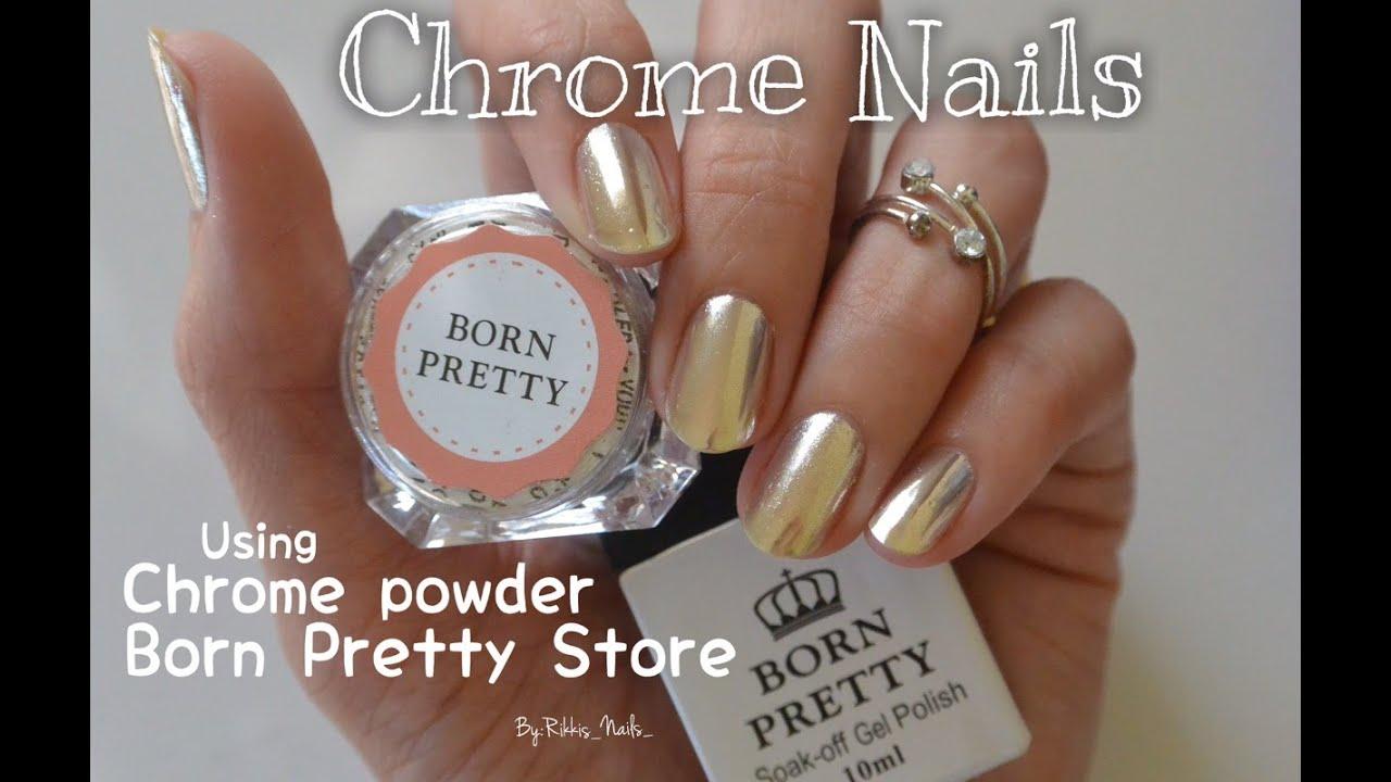 Mirror Nails with Chrome Nail Powder!! - YouTube