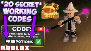 ALL *20 SECRET* WORKING CODES IN 🍭 CANDY 🍭 Treasure Quest! (ROBLOX)