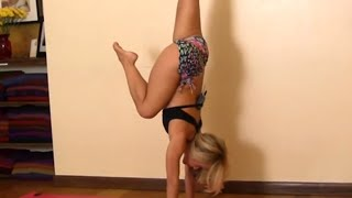 Easy Kick up into Handstand, Beginners with Kino Yoga