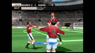 Sony Playstation, PS1 Retro FIFA 99 gameplay Manchester United vs Arsenal