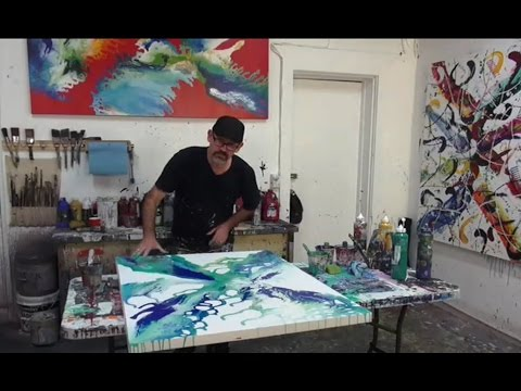 Free Abstract Art Lesson 2 Demos Creating Artworks for Beginners TV Show