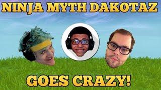 *OMG* NINJA MYTH AND DAKOTAZ GOES CRAZY! - Fortnite funny Fails and WTF moments! #26
