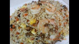 Shrimp and Fresh Shiitake Mushroom Fried Rice Recipe