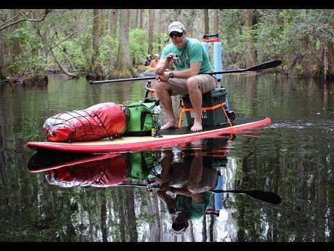 First Person to Paddleboard across Okefenokee Swamp 2014