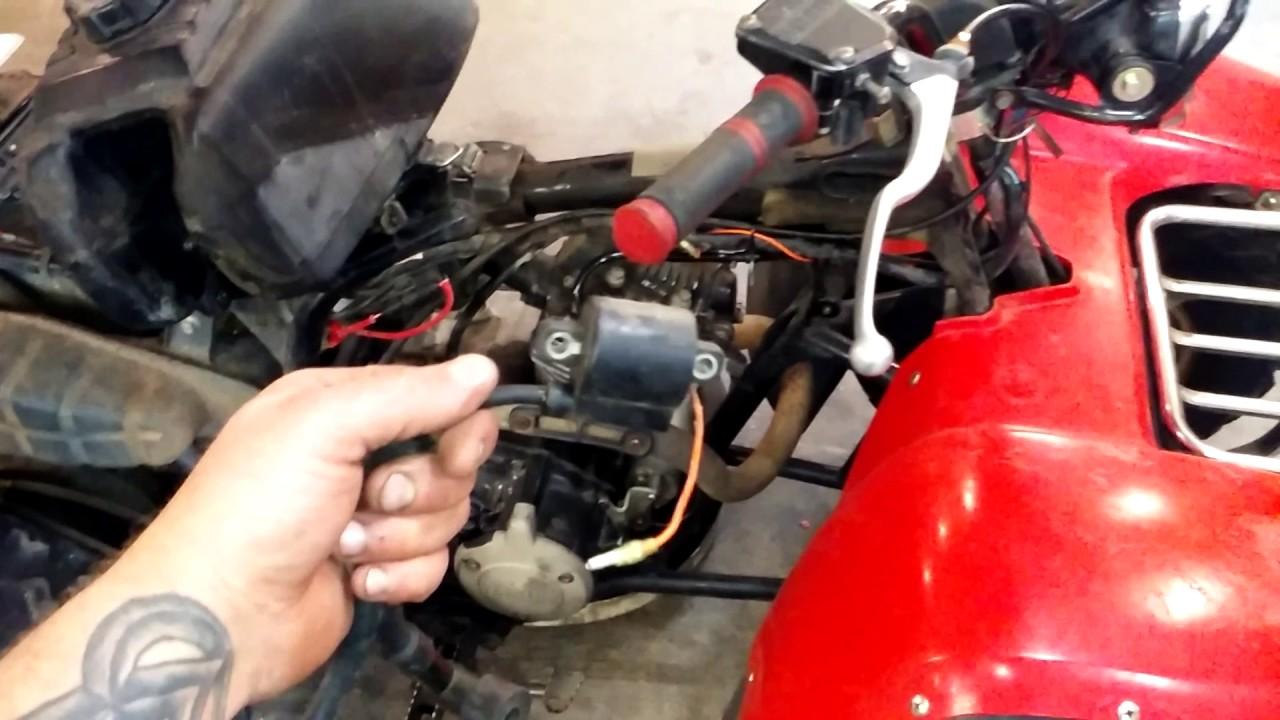 1986 yamaha moto4 electric startno start  YouTube