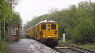 73107 & 73138 on a test train and 66044 on a MOD working at Marchwood 25/04/2014