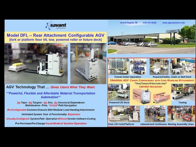SAVANT 'Tape/Target/Structure-free' Model DFL Rear-Attachment AGV/AGC
