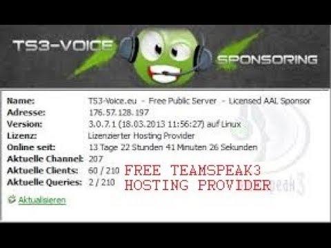 Бесплатный хостинг для серверов teamspeak 3 лицензирование хостинга в россии