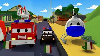 Car Patrol -  The PIZZA Thief - Car City ! Police Cars and fire Trucks for kids