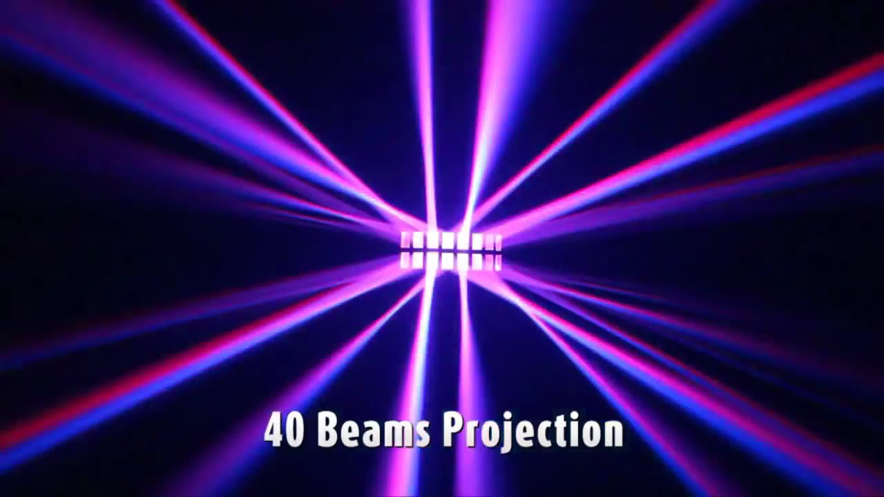 Jb Lighting A8 Dmx Kool Light Daou Double Derby Effect Led Dmx Light