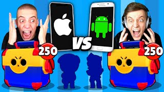 2200€ MEGA BOX OPENING BATTLE! Apple VS Android! 😱 Brawl Stars deutsch