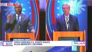 Jaime Harrison mops the floor with Lindsey Graham - South Carolina Debate