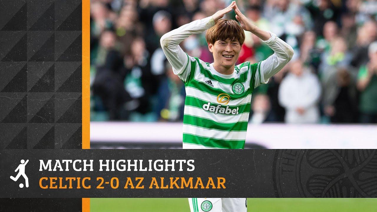 Download Kyogo Furuhashi scores and assists!   Celtic 2-0 AZ Alkmaar   UEL play-off 1st leg