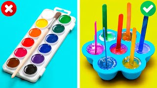 EDIBLE PAINT COLOR PALETTE || Colorful Parenting Crafts And Smart Gadgets To Make Your Life Easier
