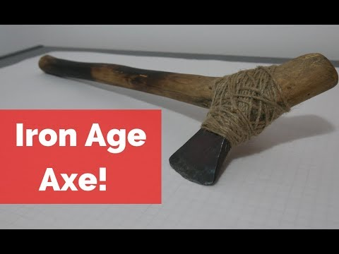 Iron Age Axe Build Forged form Wrought Iron! Identifying Wrought Iron!