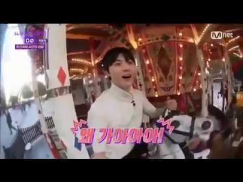 [ENG SUB] Wanna One GO Zero Base Ep 8 FUNNY MOMENT#2 (Minhyun riding the Carousel)