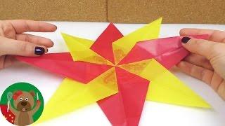 手工制作DIY 圣诞节 超级简单炫酷 双色几何星星 窗户装饰挂饰自制展示