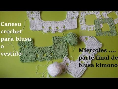 Canesu crochet para blusa o vestido niñas - YouTube d09906a1da2b