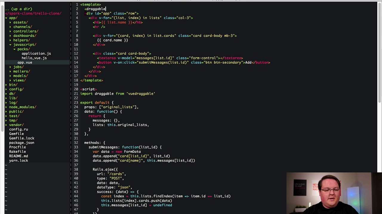 Vue js Trello Clone in Rails - Part 3 | Preview