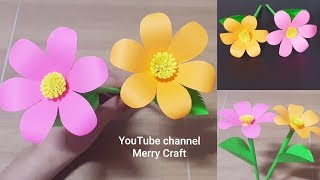 Easy Paper Flowers - Handmade Craft - Room Decoration ldeas