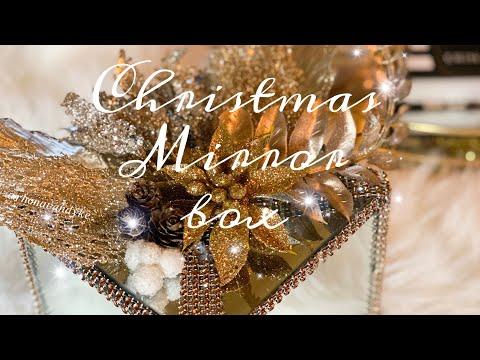 Christmas Mirror Box Dollar Store DIY