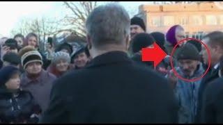 """Смелый мужик Порошенко в лицо: """"Падло, чтобы ты пожил на такую пенсию как у меня!"""""""