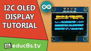 Arduino Tutorial: 0.96' 128x64 I2C OLED Display from banggood.com tutorial with review and drivers