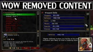 WoW Removed Content & Features - Time Warp Episode 5