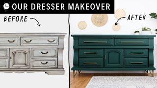 Fresh Furniture Update - Vintage to Modern Dresser Makeover !