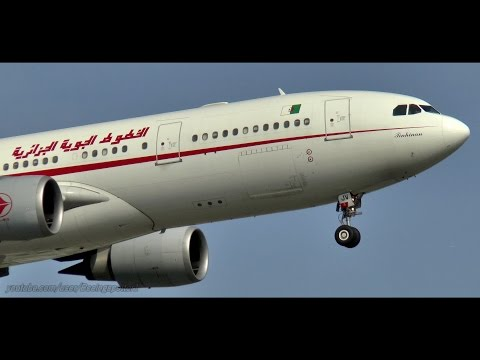 Air Algerie A330 Windy Landing and Sunset Takeoff - CYUL