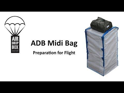 Preparing the ADB Midi bag LCLA drop system for flight