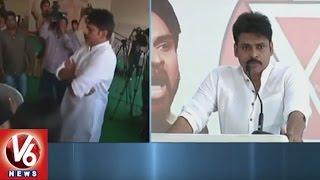 pawan kalyan press meet over victims of aqua food park in bhimavaram   v6 news