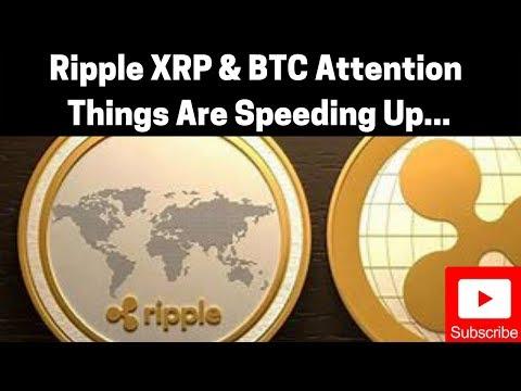 Cryptocurrency News: Ripple XRP & BTC   Things Are Speeding Up