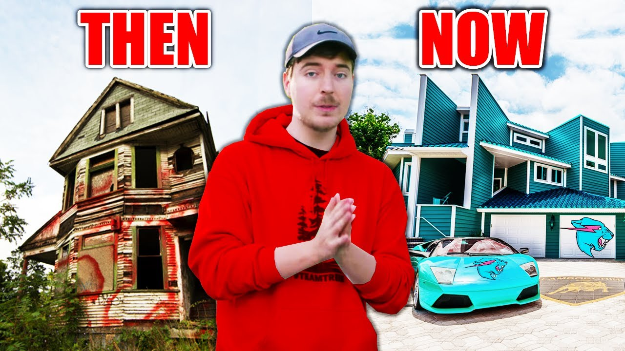 Download 5 YouTubers Houses Then And Now! (MrBeast, Jelly, Unspeakable, DanTDM)