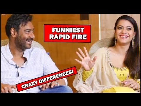 Ajay Devgn And Kajol's FUNNIEST RAPID FIRE: CRAZY DIFFERENCES REVEALED | SpotboyE