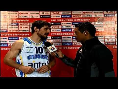 TVes - Premundial de Baloncesto - Leandro García de Uruguay