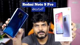 Redmi Note 9 Pro (Retail Unit) Unboxing & initial impressions ll in Telugu ll