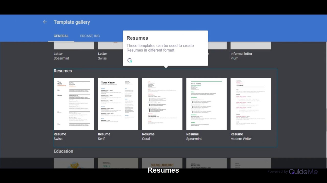 How to use different Template of Docs in G Suite @gsuite - YouTube